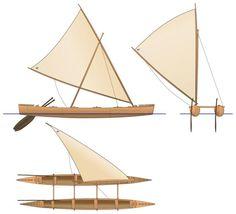 Catamaran des Fidji Canoe Boat, Canoe And Kayak, Catamaran, Outrigger Canoe, Hawaiian Decor, Vintage Boats, Nautical Design, Easter Island, Set Sail