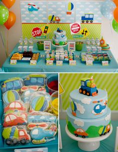Boy Birthday Party themes Best Of Boy S Transportation themed Birthday Party Birthday Themes For Boys, Cars Birthday Parties, 1st Boy Birthday, Car Themed Birthday Party, Birthday Celebration, Cake Birthday, Auto Party, Transportation Birthday, Cupcake Toppers