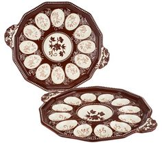 Tray chic. Stylishly serve eggs and so much more with these versatile Floral…