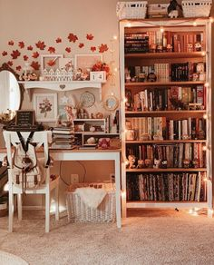 There are two motives for reading a book; one, that you enjoy it; the other, that you can boast about it. ― BertrandRussell Room Design Bedroom, Room Ideas Bedroom, Home Decor Bedroom, Study Room Decor, Cute Room Decor, Aesthetic Room Decor, Cozy Room, Dream Rooms, My New Room