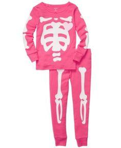 Carter's Kids Pajamas, Toddler Girls Skeleton Fitted 2-Piece Pajama Set