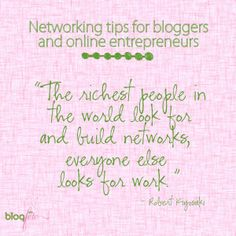 Networking tips for Bloggers!
