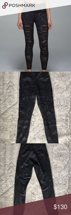 Star Tech Mesh Wunder Under Size 6 Gently worn once. Unique and rare star pattern! No wear or tear. No rip tag (i.e. the tag with the size on it). lululemon athletica Pants Leggings