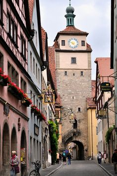 The White Tower Rothenburg Bavaria Germany