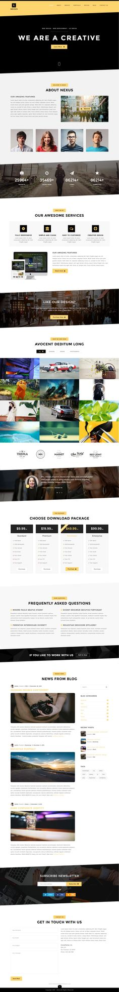 Nexus is a Fully Responsive, Modern and Multipurpose WordPress Template based on Bootstrap 3 framework created for Creative Professionals, #Agencies, Content Creators and Photographers etc. #webdesign