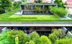 modern house rooftop gardens trees lawn stunning house exterior design
