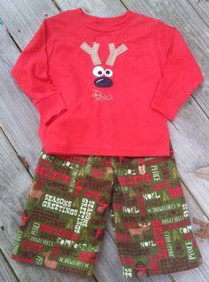 hristmas Reindeer Pajamas, Personalized