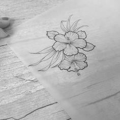"""""""Hibiscus • #tattrx #inkstinctsubmission"""""""
