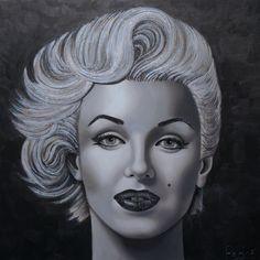 Marilyn Monroe by Pedno Stephane, Beauty Industry, Marilyn Monroe, Pop Art, Halloween Face Makeup, Faces, Portraits, Artists, Art Pop