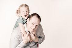 Leuke foto van vader en dochter.