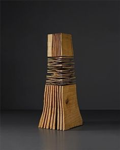 View Rip and Cross Cut Column By David Nash; Caen-y-Coed beech wood; 29 x 11 x 9 in; Access more artwork lots and estimated & realized auction prices on MutualArt. Sculptures Céramiques, Art Sculpture, Abstract Sculpture, Wood Creations, Wooden Art, Wood Design, Wood Turning, Wood Crafts, Contemporary Art