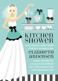 79b0a226ce00 Kitchen Bride - Blue   Blonde Invitations by Doc Milo - Invitation Box
