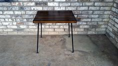 End table made to order reclaimed wood rod by Vintagesteelandwood