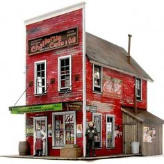 High quality, HO scale wood model kit which will enhance any scene. Consists of precision engineered laser-cut plywood core overlaid with laser-cut clapboard and strip wood. Structure Wood, Forte Apache, Ho Scale Buildings, Hobby Trains, 3d Home, Model Train Layouts, Miniature Houses, Paper Models, Model Building