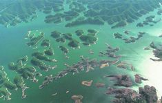 China too has some man made islands - Thousand Island Lake, near Hangzhou, Zhejiang province, China. There is a chain of over 1,078 man-made large islands and a few thousand smaller ones at Qiandao Lake.