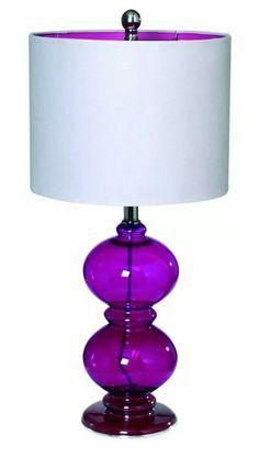 bright purple glass lamp
