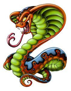 Cobra In Skull Tattoo Sketch photo - 1