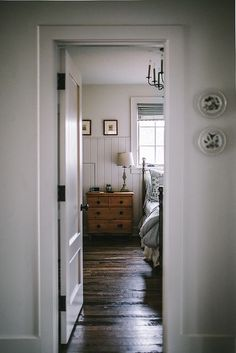 beautiful wood floors white walls farmhouse