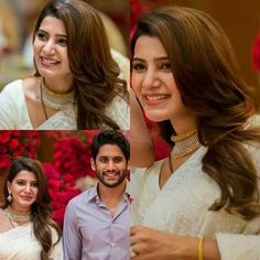 Isnt r smile is the best Indian Wedding Guest Dress, Indian Wedding Wear, Cute Celebrity Couples, Cute Couples Photos, Indian Celebrities, Beautiful Celebrities, Samantha Photos, Samantha Ruth, Samantha Wedding