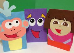 Dora the Explorer party bags by PlanningWithJacen on Etsy, $18.00