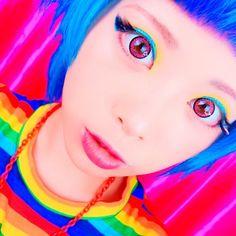 """6,698 Likes, 18 Comments - Haruka Kurebayashi (@kurebayashiii) on Instagram: """"90's inspired makeup →https://youtu.be/k73qESoLAb4 #kawaii #harajuku #colorful #NYX #ilovenyx…"""""""