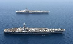 Gallery of US Navy photos Us Navy Aircraft, Navy Aircraft Carrier, Hw Bush, Military, Boat, Adventure, Ships, American, Dinghy