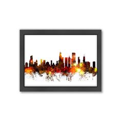 Americanflat Michael Tompsett ''Chicago Skyline Vi'' Framed Wall Art, Multicolor