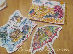 Famous Artist Crafts for Kids - Like Seurat - Pencil Eraser Art :)