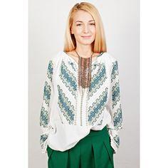 Ie Gorjenească - Verde Ruffle Blouse, Cool Stuff, Long Sleeve, Green, Sleeves, Infinity, Tops, Traditional, Art
