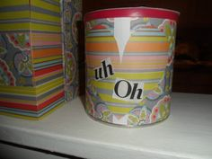 Spin on the Uh Oh jar made with an old formula can ;-) Filled with different chores for when the kids act up. Toddler Crafts, Crafts For Kids, Arts And Crafts, Diy Hacks, Cleaning Hacks, Diy Craft Projects, Diy Crafts, Craft Ideas, Formula Cans