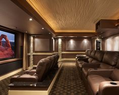 Whenever I wake up rich, this is mine. Leesburg Theater modern media room