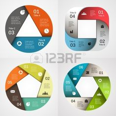 Infographic Template: Vector circle info-graphic. Template for diagram, graph, presentation and chart. Business concept with 3, 4, 5, 6, options, parts, steps or processes. Abstract background. via 123RF #infographictemplate #design #colorful #vector