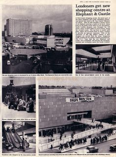An article from the Illustrated London News of April the 3rd 1965 on the opening of the then new Elephant & Castle Shopping Centre.