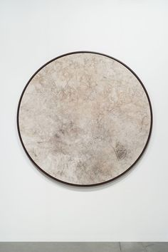 DAVIDE BALULA River Painting (Torsey Creek, Maine), 2014 Sediments on canvas 70 in diameter 177.8 cm diameter