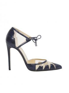 c7763a081e38 BIONDA CASTANA - LANA The ultimate femme fatale evening court in navy blue  elaphe skin