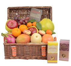 A perfect combination of fresh fruits and organic times cookies and chocolates for sharing with friends and family - order today and enjoy our free delivery to SG. Fruit Hampers, Gift Hampers, Australian Organic, Organic Cookies, Organic Coffee Beans, Macadamia Cookies, Beautiful Fruits, Large Baskets, Chocolate Coffee