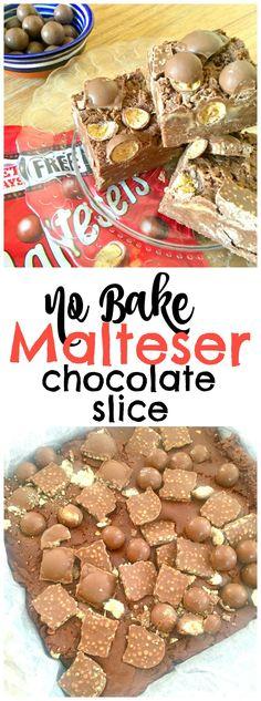 Chocolate Slice, Chocolate Recipes, Chocolate Malt, Chocolate Heaven, No Bake Desserts, Easy Desserts, Dessert Recipes, Cake Recipes, No Bake Recipes