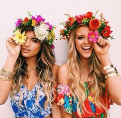 coachella girls with flower crowns - Google Search