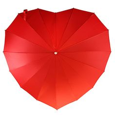 Stand out in a crowd of black trench coats and add a little love to a rain shower with this delightful umbrella.