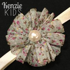 Floral headband by Kenzie Kids Boutique