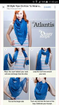 How to tie a rectangular Scarf to be triangular