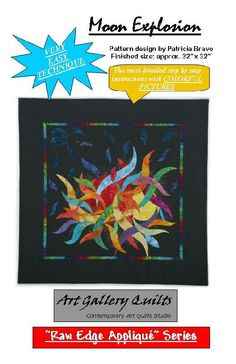 art Quilt Patterns | Moon Explosion, ART QUILT PATTERNS, Art Gallery Fabrics