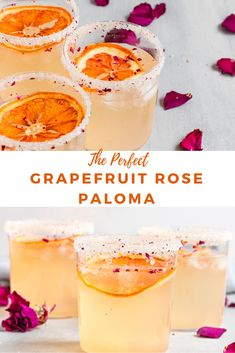 A delicious & refreshing Grapefruit Paloma Cocktail made with a homemade grapefruit rose simple syrup, grapefruit soda, & tequila. This grapefruit cocktail makes the absolute best simple cocktail for a crowd or to enjoy in the Fall/Winter season. A unique Grapefruit Recipes, Grapefruit Cocktail, Raspberry Cocktail, Paloma Cocktail, Rose Cocktail, Cocktail Syrups, Cocktail Recipes, Tequila