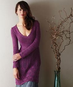 "Knitting - Free Pattern: ""Ladies Lace Pullover"" - Level: intermediate."