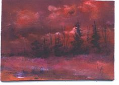 ACEO  Sunset landscape painting by Jim Smeltz by jimsmeltzgallery, $20.00