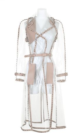 VALENTINO Naked Rockstud Trench Coat in Transparent Pvc - Lyst