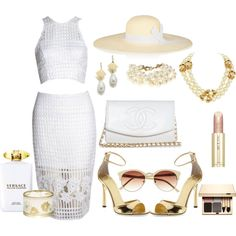 """White Dress"" by kmaryk on Polyvore"