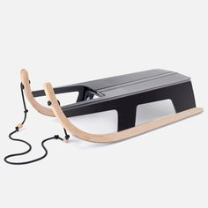 Max Frommeld and Arno Mathies create a folding sled.