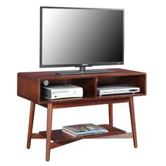 Convenience Concepts Savannah Mid Century TV Stand