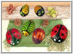 Pebble Art: Lady Bird